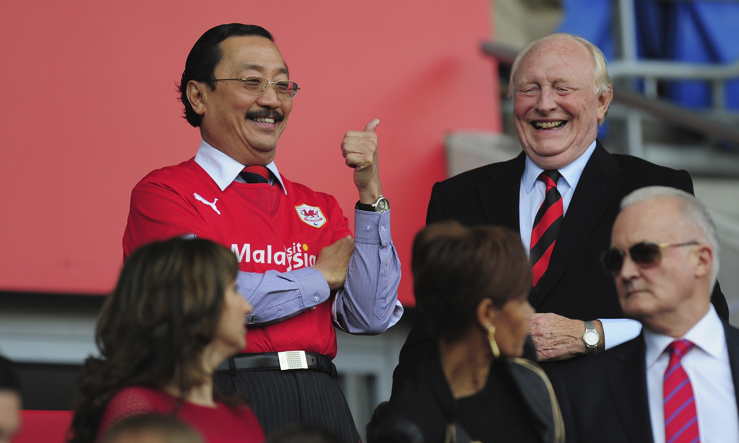 Vincent Tan before Cardiff City's home match against Newcastle United on 5 October 2013